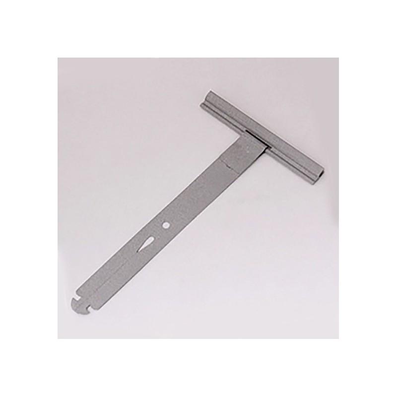 Attache tablier fendue pour volet roulant à clipser en inox