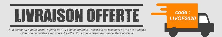 Livraison offerte à partir de 100 € chez Volet-Moustiquaire.com du 05/02/2020 au 04/03/2020