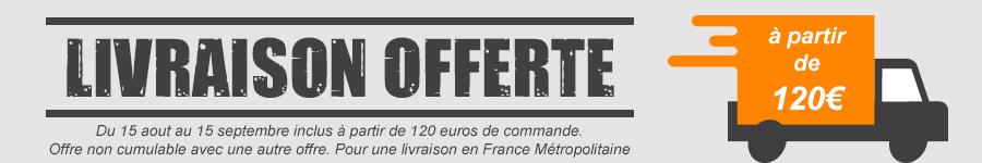 FRAIS DE PORT OFFERTS dès 120 EUROS de commande