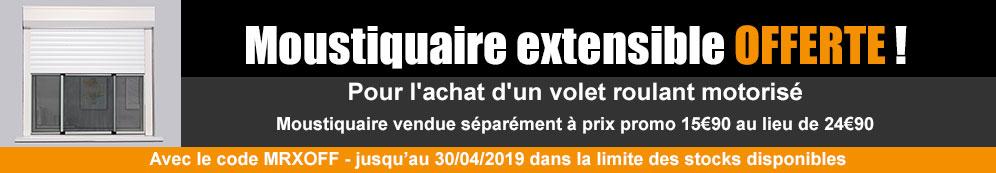 Jusqu'au 30/04/19 - Une moustiquaire extensible Offerte pour l'achat d'un volet motorisé !