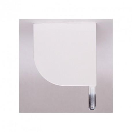 Console pour volet roulant rénovation1/4 de rond, coloris Blanc - Gauche par Volet-Moustiquaire