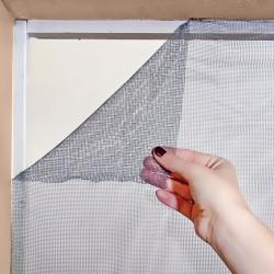 Moustiquaire amovible Tulle 170 cm x 170 cm coloris Gris