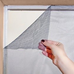 Moustiquaire Tulle auto-agrippante 100 cm x 100 cm  coloris Gris