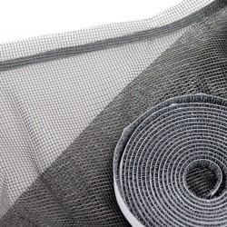 Moustiquaire tulle Express 130 cm x 150 cm coloris gris AUTO-AGRIPPANTE