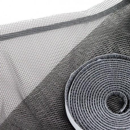 Moustiquaire auto-agrippante Express 130 cm x 150 cm coloris gris