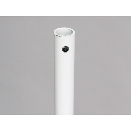 Tige seule rond 12 mm pour volet roulant manoeuvre par treuil en acier blanc chez Volet-Moustiquaire.com