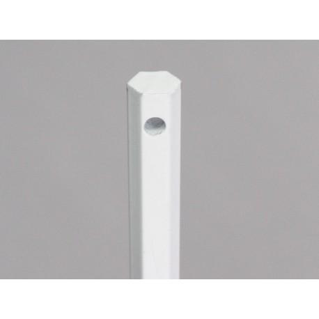 Tige seule hexagonale diamètre 10 mm L120 cm, acier laqué blanc, pour volet manoeuvre treuil par Volet-Moustiquaire.com
