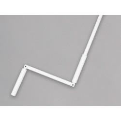 Manivelle complète avec tige hexagonale 10 mm en acier laqué blanc