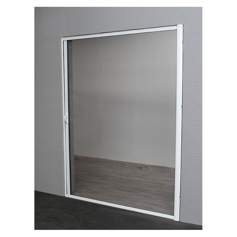 moustiquaire enroulable lat rale alu h220 cm x l160 cm blanc. Black Bedroom Furniture Sets. Home Design Ideas