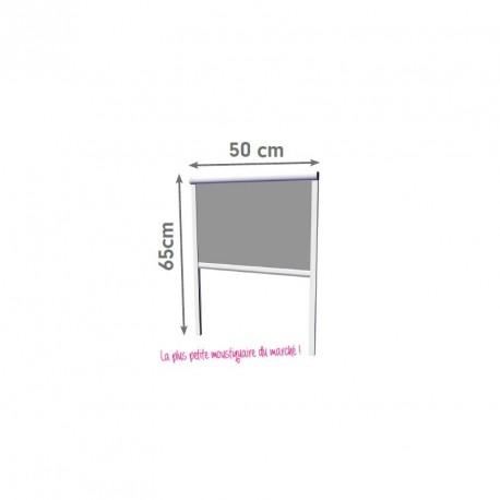 Moustikit Enroulable Verticale Alu H60 cm x L50 cm Blanc