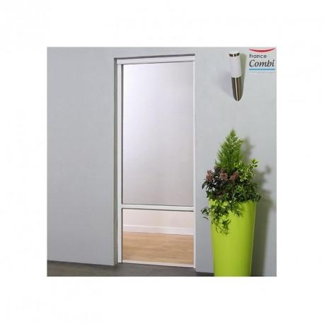 Moustiquaire Enroulable Verticale Alu pour porte H230 cm x L125 cm Blanc
