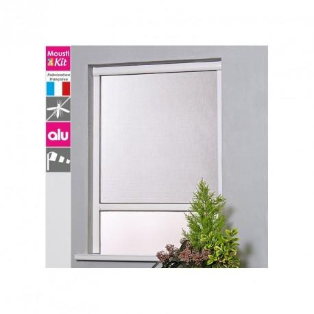Moustiquaire Enroulable Verticale Alu H160 cm x L180 cm Marron pour fenêtre