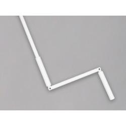 Manivelle Acier Blanc sortie ronde 12 mm longueur 190 cm