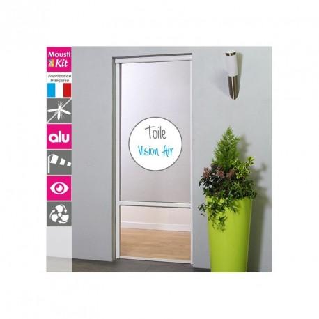 Moustikit Enroulable Verticale Alu H230 cm x L25 cm Blanc avec Toile Vision Air