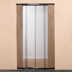 Moustiquaire de porte à bandes verticales H220 cm x L95 cm Noir