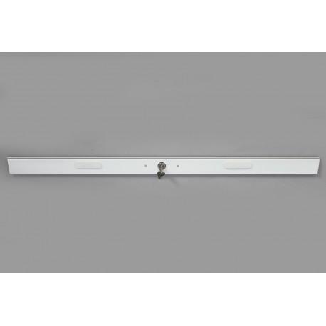 Lame Serrure Aluminium Blanc Longueur 150 cm