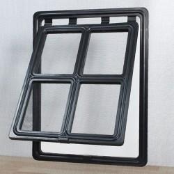 Chatière pour moustiquaire de Porte ou Baie Vitrée H45,5 cm x L35,5 cm Noir idéal pour votre petit chien