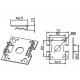 Dimensions du support moteur standard à goupilles