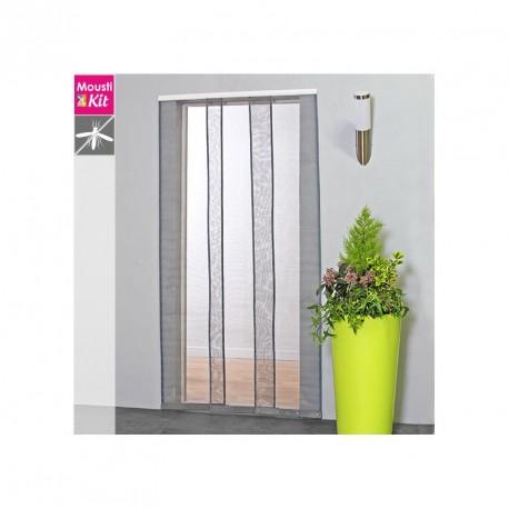 Moustiquaire rideau Confort H230 cm x L100 cm coloris gris par Moustikit