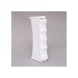 Poignée de tirage pour cordon coloris blanc