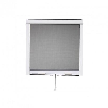 Moustiquaire enroulable PVC pour fenêtre H145 cm x L125 cm Blanc