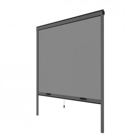 Moustiquaire enroulable verticale grise H145 cm x L130 cm