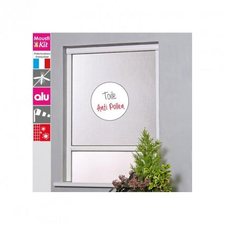 Moustiquaire Enroulable ALU Toile Anti-Pollen Fenêtre- H 160 cm x L 125 cm - blanc