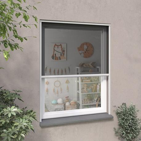 Moustiquaire enroulable verticale ALU Vision Air H160 cm x L100 cm, coloris blanc