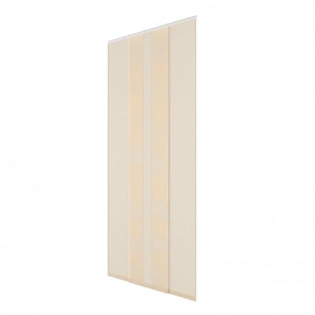 Moustiquaire rideau de porte H230 cm x L130 cm - Ivoire