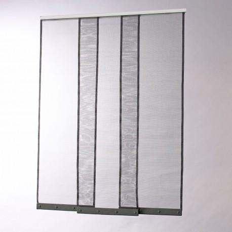 Moustiquaire rideau pour porte L100 cm x H230 cm gris chez volet-moustiquaire.com