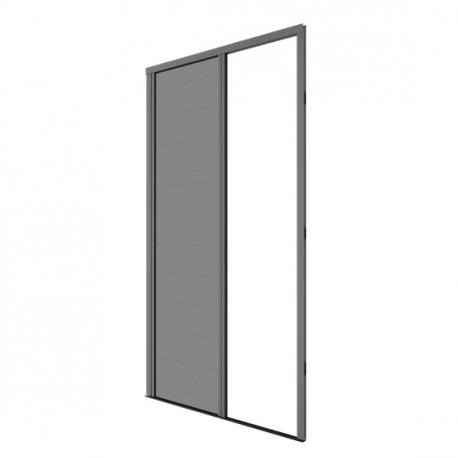 Moustiquaire plissée ouverture latérale H230 cm x L140 cm coloris gris