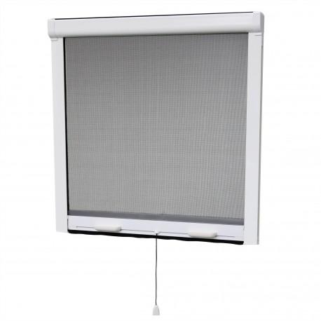 Moustiquaire enroulable verticale pour fenêtre H145 cm x L125 cm