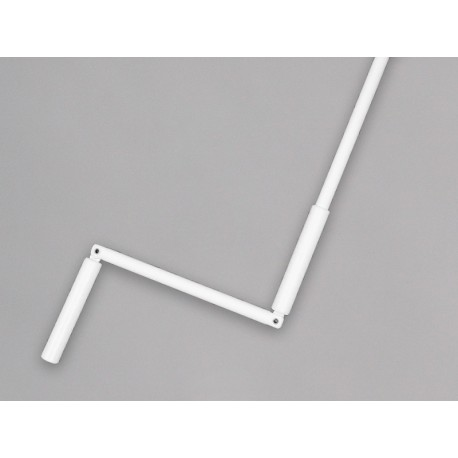 Manivelle complète hexagonale 10 mm - tige et poignée - Blanc - France Combi