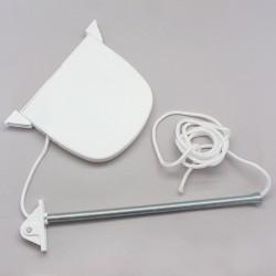 Enrouleur de cordon avec cordon pour volet roulant Blanc