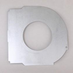 Plaque de guidage volet roulant coffre ¼ de rond – axe 60