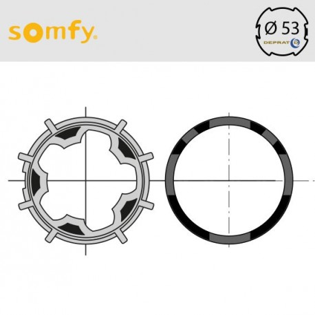 Bague moteur Somfy axe 53