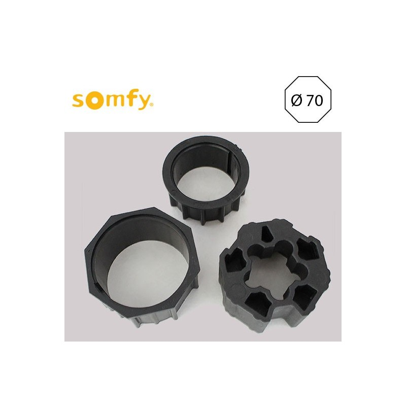 bague moteur somfy pour axe octogonale 70mm de volet roulant. Black Bedroom Furniture Sets. Home Design Ideas