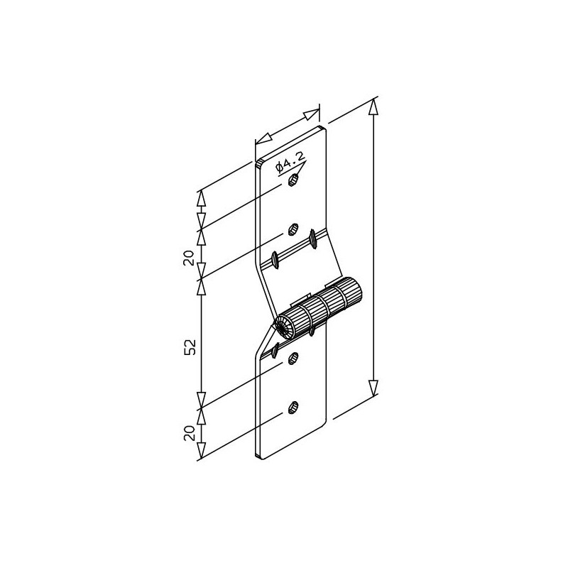 Charni re de projection pour volet roulant manuel la paire - Charniere de volet bois ...
