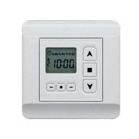 Zoom écran digital de l'horloge programmable par Volet-Moustiquaire.com
