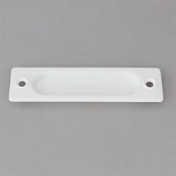 Poignée de tirage en PVC blanc pour volet roulant tirage direct