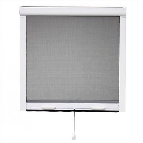 MOUSTIQUAIRE ENROULABLE VERTICALE PVC H.130 x L.100 cm POUR FENETRE