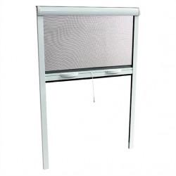 Moustiquaire pour fenêtre, enroulable en ALU, H.170 x L.160 cm