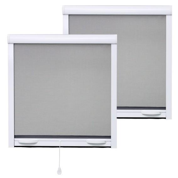 PACK ECO de 2 moustiquaires Enroulables ALU H145 cm x L130 cm Blanc
