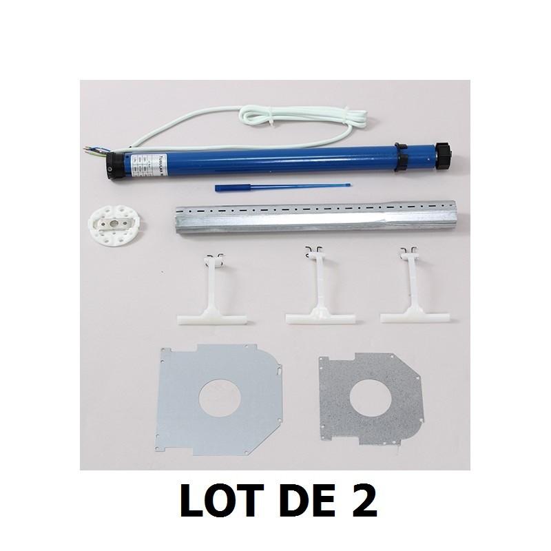 Pack Moteurs de modernisation pour 2 volets roulants existants axe 40 mm