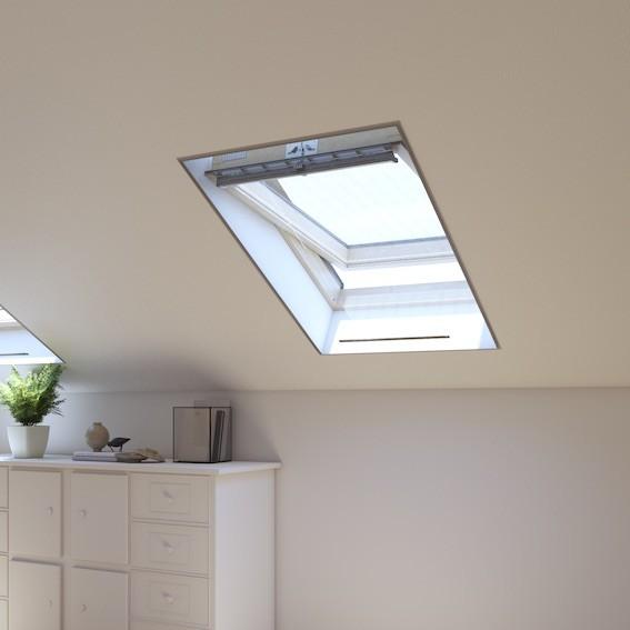 Lot de 2 Moustiquaires fenêtre de toit 150x150 cm gris