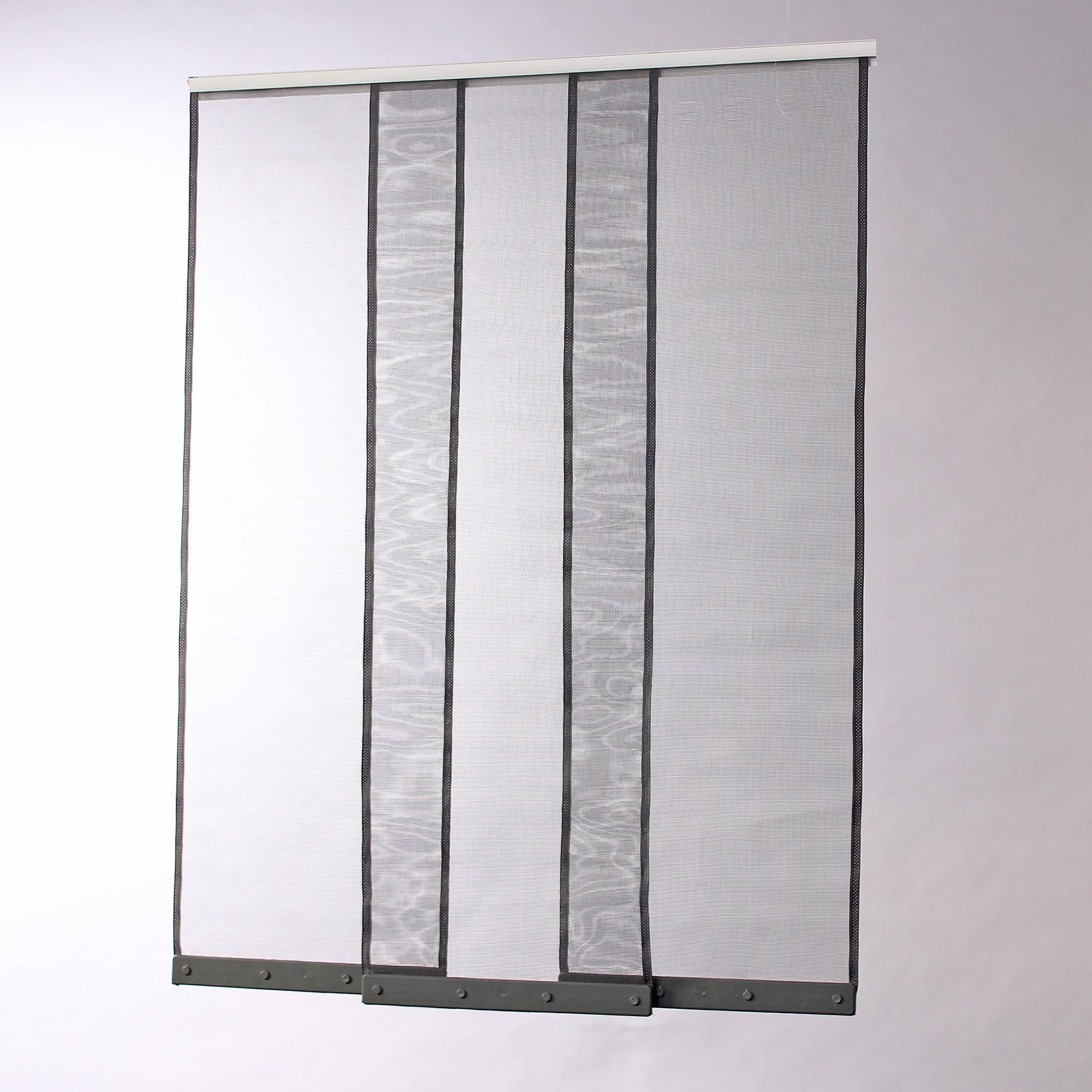 Moustiquaire rideau pour porte L100 cm x H230 cm gris