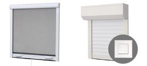moustiquaire ou volet pour fenêtre, porte, baie vitrée